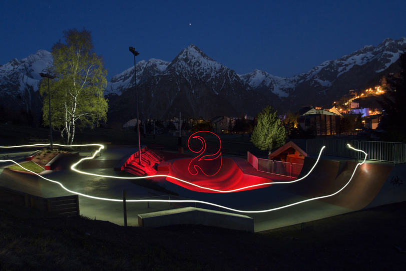 Light painting Skate Park / 1mn30